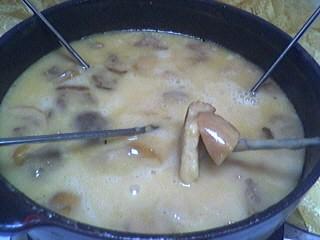 Image : Fondue savoyarde aux cèpes