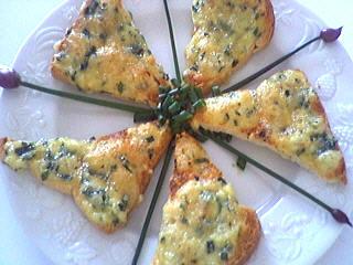 fromage : Assiette de canapés au saint Marcellin