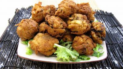 tagliatelle : Assiette de croquettes aux tagliatelles aux champignons