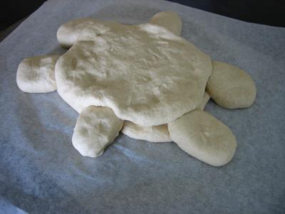 Pain aux oignons en forme de tortue - 12.2
