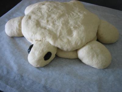 Pain aux oignons en forme de tortue - 13.2
