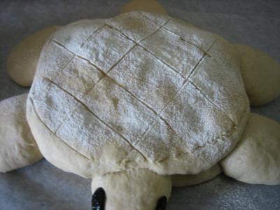 Pain aux oignons en forme de tortue - 15.1