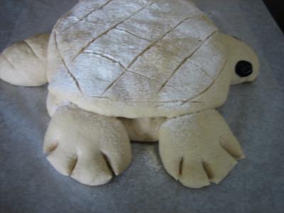 Pain aux oignons en forme de tortue - 16.1