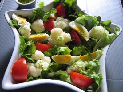 Image : Alimentation végétarienne - Salade de choux-fleurs