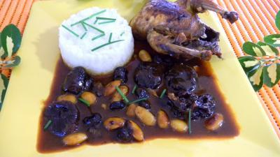 perdrix : Assiette de perdrix au miel et fruits secs