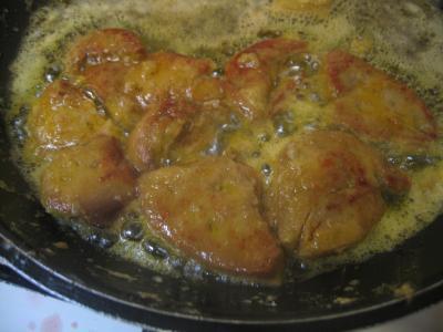 Foie gras sauce aux airelles et poireaux - 6.4