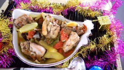 ragoût : Saladier de ragoût de lapin