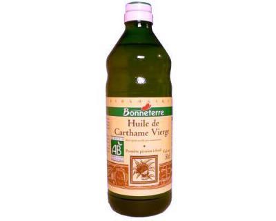 Image : Huile de Carthame - Bouteille d'huile de Carthame