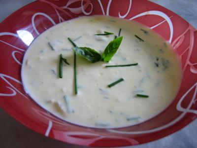 Image : Sauce au fromage blanc aux fines herbes