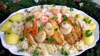 choucroute conserve : fruits de mer, panga et choucroute