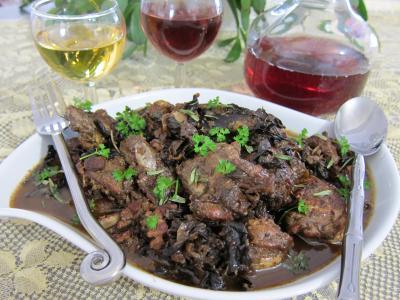 champignon des bois : Salmis de faisan et de perdrix