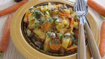 fond de veau : Rutabagas aux carottes