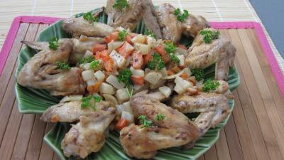 Photo : Ailerons de poulet sautés aux navets