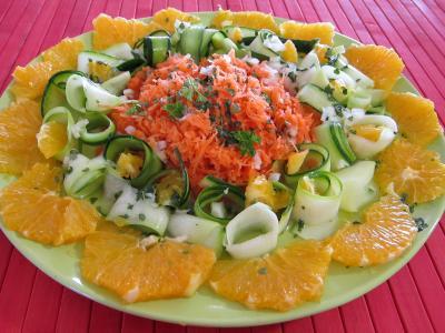Image : Salade d'orange à l'eau de fleur d'oranger