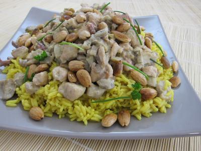 encornet : Assiette de risotto à la saumonette et encornet