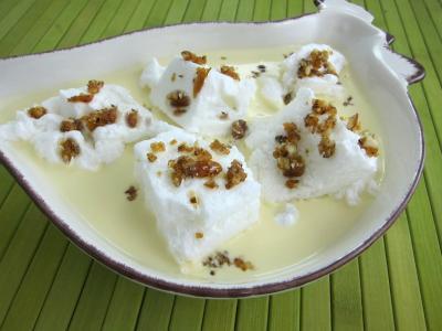 Recette Saladier d'une ile flottante à la vanille