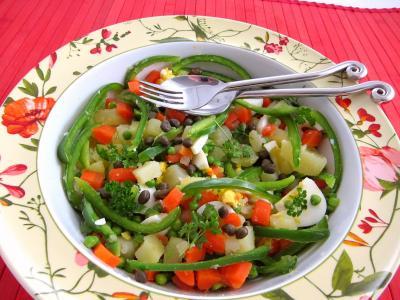 Photo : Salade et sauce au parfum de Russie