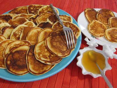 Recette Assiettes de pancakes au miel