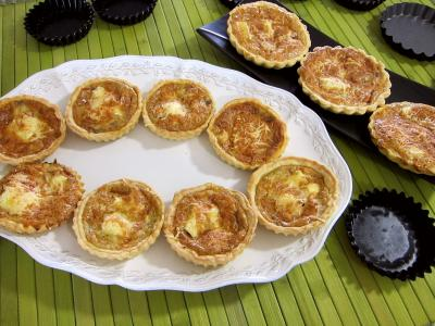 Tartelette aux brie et au jambon