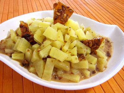 legumes sucrés : Plat de patates douces au citron vert