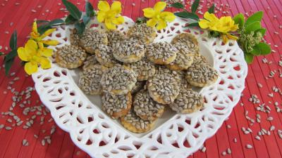 canapés aux graines de tournesol