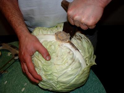 Préparation du chou de la choucroute - 2.3