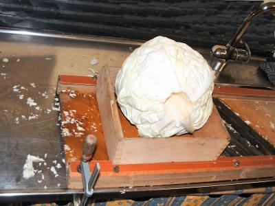 Préparation du chou de la choucroute - 3.1