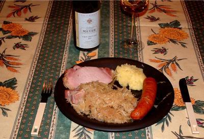 Image : Choucroute - Un plat de choucroute
