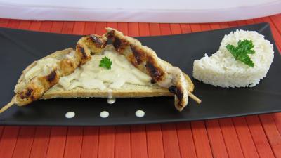 Image : recette Toasts de poulet et sa sauce aux cacahuètes à la Thaïlandaise